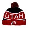 Image for Utah Utes Forty Seven Brand Pom Pom Beanie