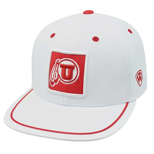 Cover Image For Top of the World Utah Utes Red Square Athletic Logo Hat