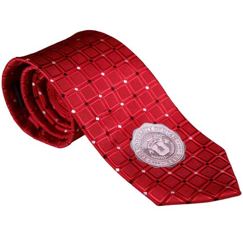Image For University of Utah Diamond Pattern Medallion Tie