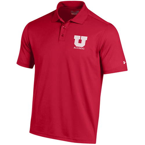 Cover Image For University of Utah Block U Alumni Under Armour Polo