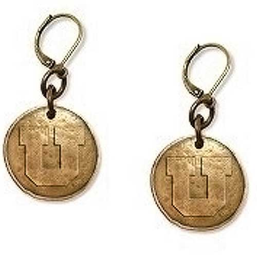 Image For Utah Block U Bronze Earrings