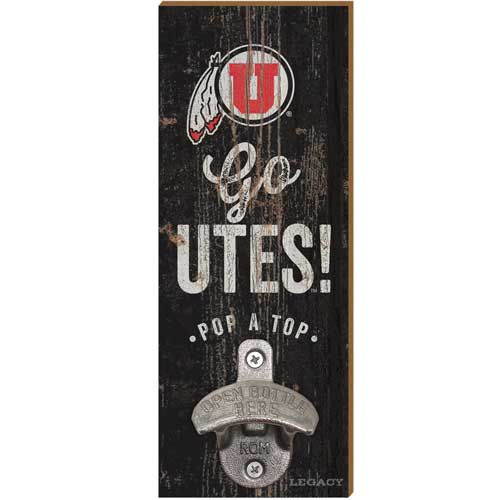 Image For Utah Utes Wall Mount Bottle Opener