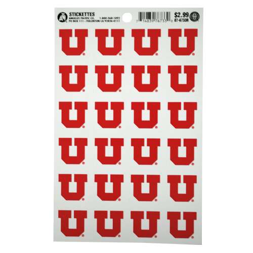 Cover Image For University of Utah Red Block U Stickers