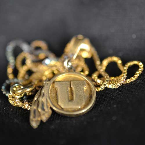 Image For Utah Athletic Logo Gold Plated Necklace