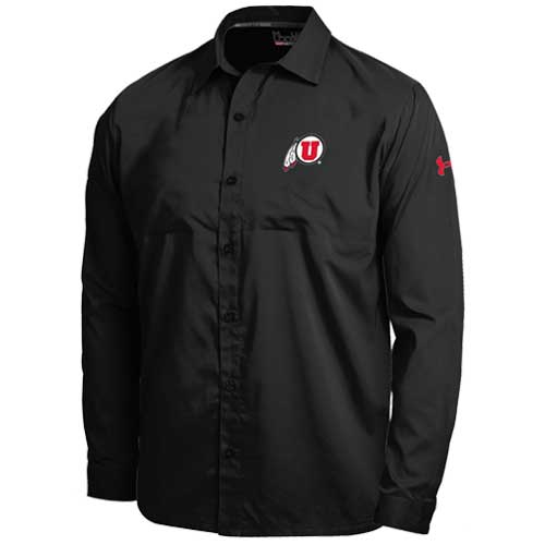 Image For Utah Under Armour Button Up Shirt
