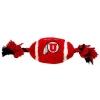 Image for Utah Utes Plush Football Pet Toy