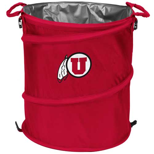 Image For U of U Athletic Logo Collapsible Cooler-Trash-Laundry Hamper