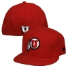 Image for Utah Utes New Era Athletic Logo Red Hat