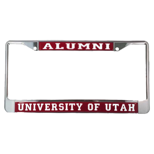 Image For Red University of Utah Alumni License Plate Frame