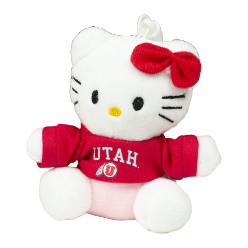 Cover Image For Utah Athletic Logo 3 Inch Hello Kitty Key Chain
