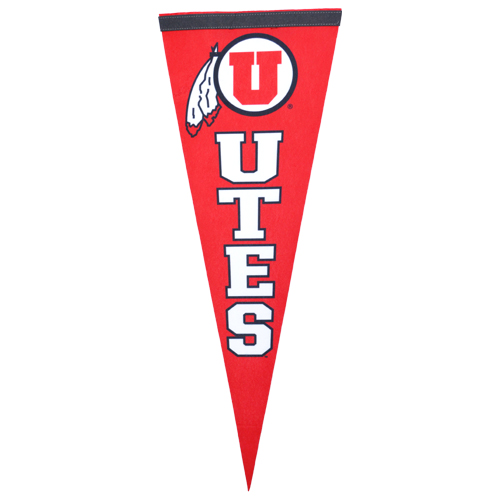 Image For Utah Utes Athletic Logo Pennant