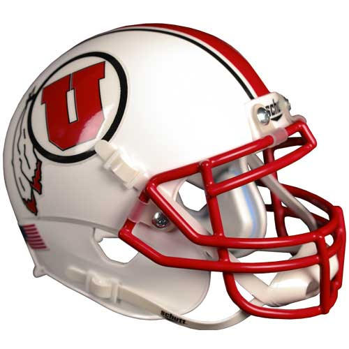 Image For Mini Utah Utes Athletic Logo Helmet with Stripes