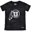 Image for Under Armour Utes Athletic Logo Black Shimmer Youth Shirt