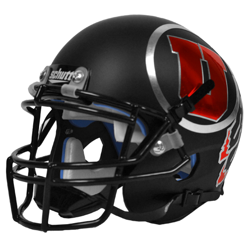 Image For Matte Black Chrome Athletic Logo Mini Helmet