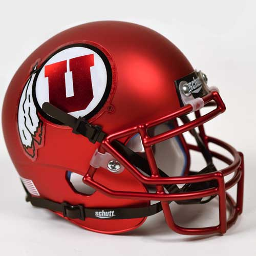Image For University of Utah Schutt Mini Satin Helmet