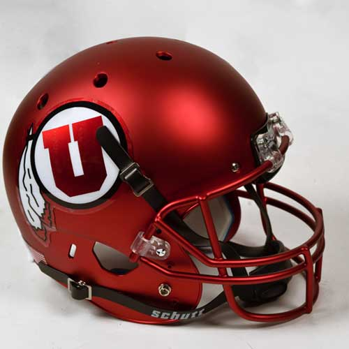 Image For University of Utah Schutt Replica Full Size Satin Helmet