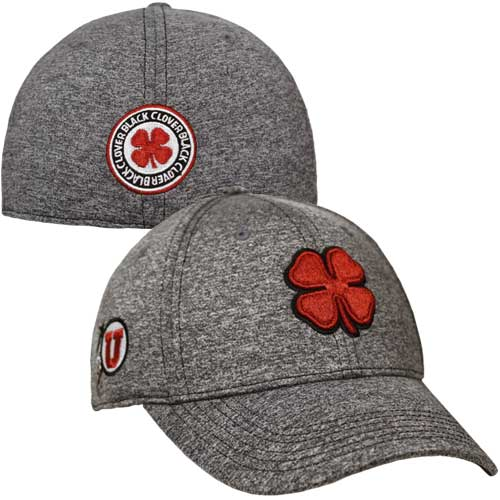 Cover Image For Utah Utes Heathered Black Clover Hat e66b444110c