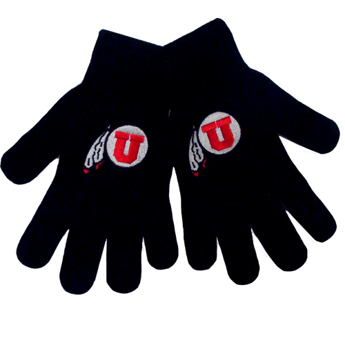 Image For Utah Utes Athletic Logo Gloves