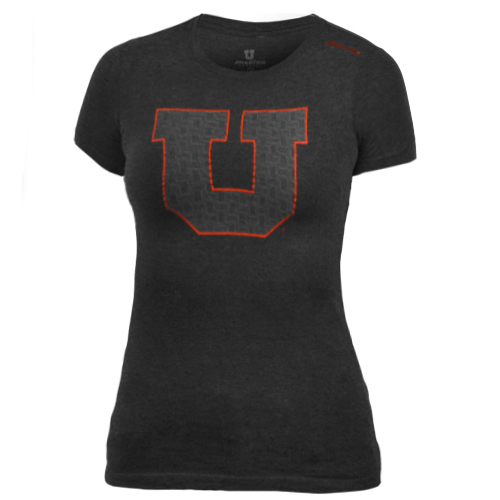 Image For Utah Utes Block U Junior Fit T-Shirt