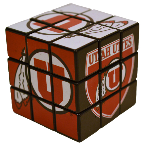 Image For University of Utah Athletic Logo Puzzle Cube