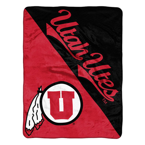 Image For Utah Utes Athletic Logo Plush Blanket