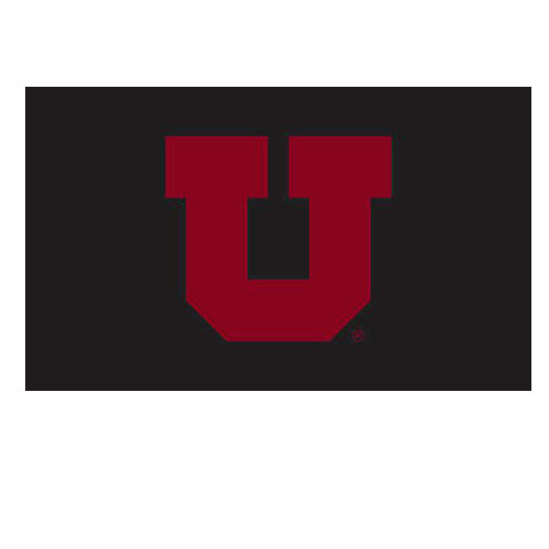Image For University of Utah Black and Red Block U Flag