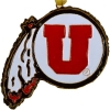 Cover Image for Genuine Cloisonne Gold Plated Utah Athletic Logo Ornament