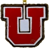 Cover Image for Red Utah Utes Script Laser Tag Licence Plate