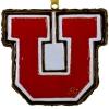 Image for Utah Utes Genuine Cloisonne Gold Plated Block U Ornament