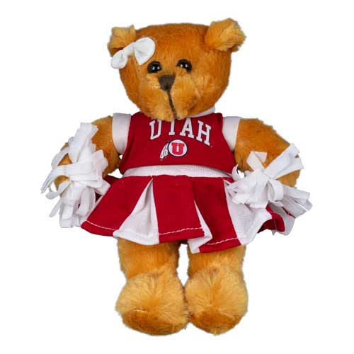 Cover Image For University of Utah Cheerleader Bear