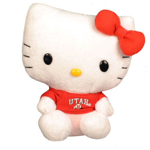 Image For Utah Athletic Logo 6 Inch Hello Kitty