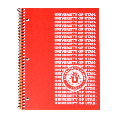 Image For 1-Subject University of Utah Medallion Notebook
