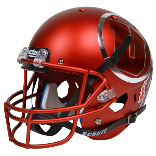 Image For University of Utah Schutt Mini Satin Chrome Helmet