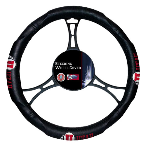 Image For Utah Athletic Logo Steering Wheel Cover