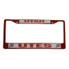 Image for Utah Utes Red/White License Plate Frame