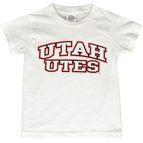 Image For Utah Utes Youth White T-shirt