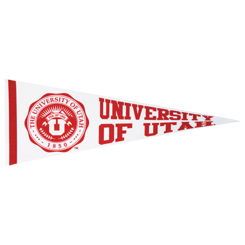 Image For University of Utah White Medallion Pennant