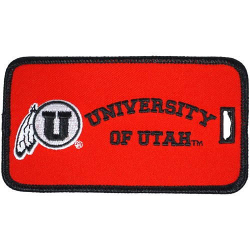 Image For University of Utah Embroidered Luggage Tag