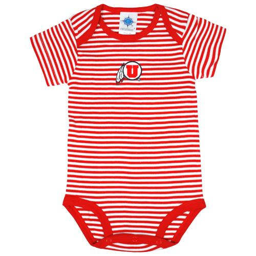 Image For Athletic Logo Striped Onesie