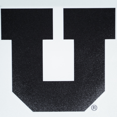 Cover Image For Utah Utes Black Block U 7in Decal
