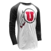 Image for Utah Utes Athletic Logo Baseball Tee