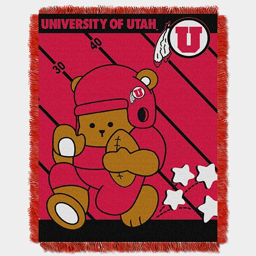 Image For University of Utah Athletic Logo Baby Throw<!--DS-->