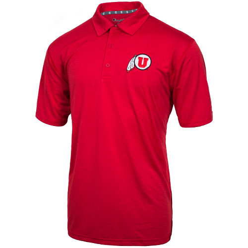 Image For Champion Athletic Logo Heathered Polo Shirt