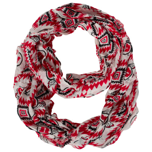 Image For ZooZats Athletic Logo Tribal Print Infinity Scarf