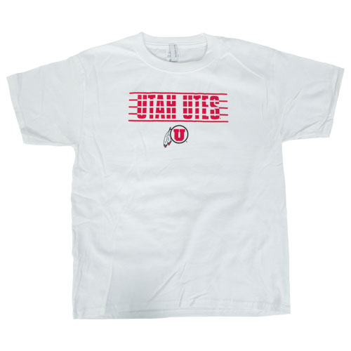 Image For Utah Utes Athletic Logo Youth T-Shirt
