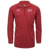 Image for Under Armour Athletic Logo Mens Striped Knit Quarter Zip
