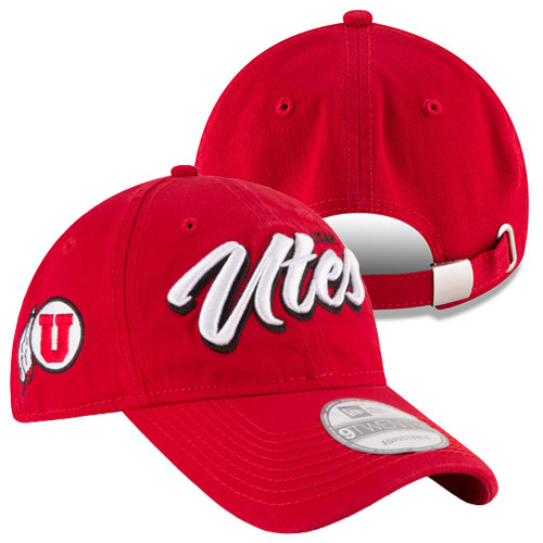 Image For New Era Utah Utes Athletic Logo Adjustable Hat