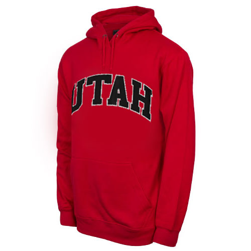 Image For Champion Bold Lettering Utah Hooded Sweatshirt