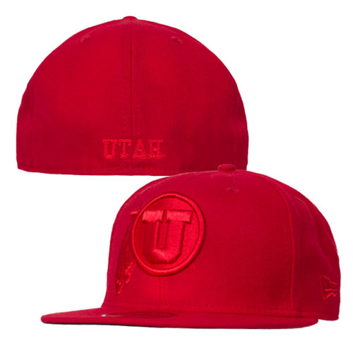 Image For New Era Red Out Athletic Logo Fitted Hat
