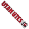 Image for Utah Utes Athletic Logo Chrome Outline Decal